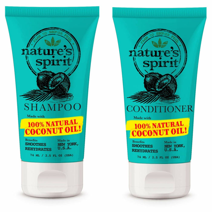 Nature's Spirit Rehydrating Coconut Oil Shampoo 2.5 oz+Conditioner 2.5 oz