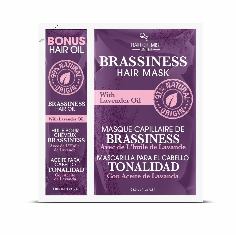 Hair Chemist Brassiness Hair Mask with Lavender Oil Packette 1 oz. (2-PACK)