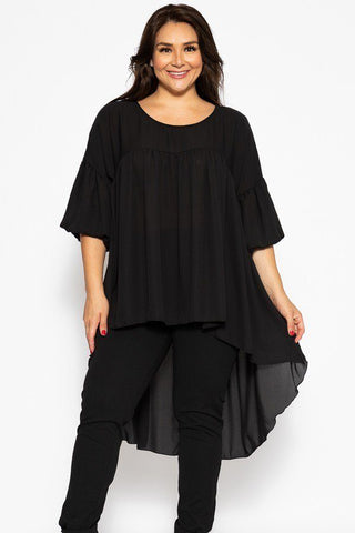 U Neckline Timeless High Low Top