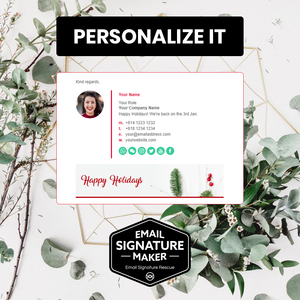 Happy Holidays Email Signature Template
