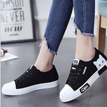 Women's Sneakers Flat Heel Round Toe Canvas Summer#07697534