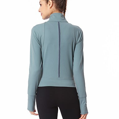 Women's Patchwork Zipper Top  Yoga Running Fitness Activewear#7193444