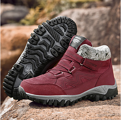 Women's Flat Heel Suede Athletic Hiking Boots #07741887
