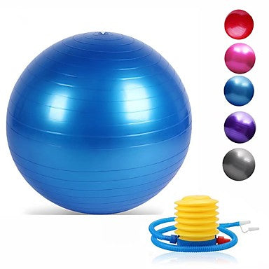 95cm Exercise / Yoga Ball Professional, Explosion-Proof,With Foot Pump#00461548