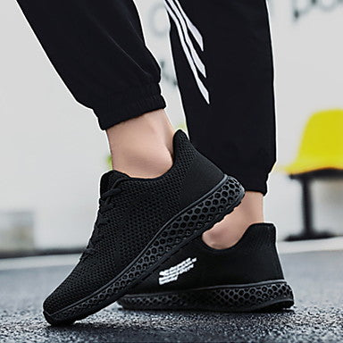 Women's Athletic Shoes Flat Heel Round Toe Mesh Running Shoes#07706794