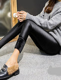 Women's Fleece Lined Legging - Solid Color, Modern Style Mid Waist#06175825