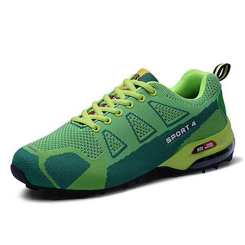 SUROM Men Sneakers Comfortable Lace Up Breathable Running Shoes