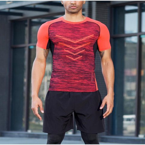 Men's Sports Suit Quick Drying T-shirt Short Sleeve Top  Running Shorts