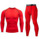 Men's Compression Set T-Shirt/Pants Tights Training Suits thermal underwear XXXXL