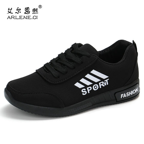 Women Breathable Mesh Lace-Up Flat Sneakers Tennis Fitness Gym Women's Shoes