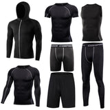 Men's sport clothing fitness physical training suits workout jogging sports tracksuit