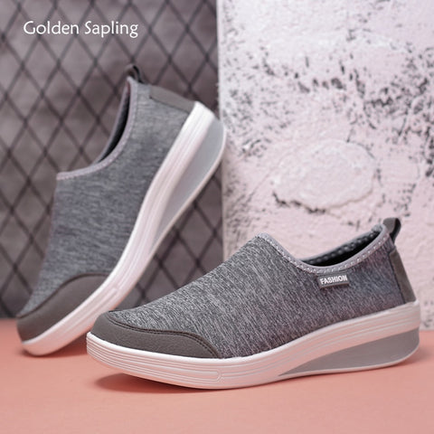 Golden Sapling Light Weight Women's Sneakers Slip-on Trainer Shoes