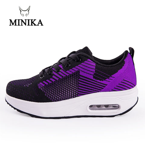 Women's Toning Light Weight Air Sports Shoes Swing Shoes Slimming