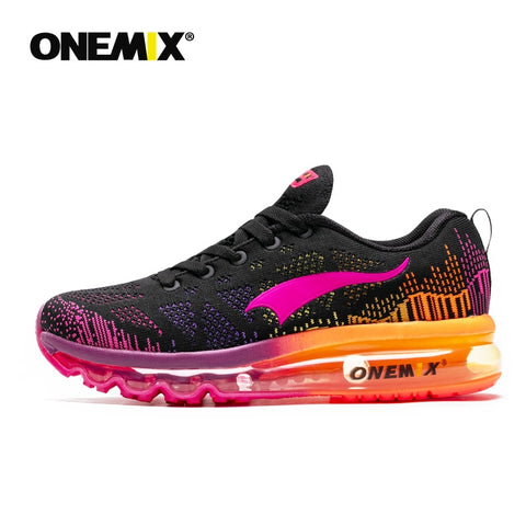 ONEMIX Women's Running Walking Sneakers Knitted Anti Slip Air Cushion Shoe