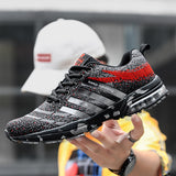 Running Shoes Breathable Air Cushion Lace Up Walking Jogging Athletic Footwear