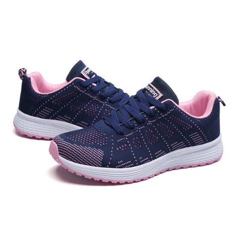 Women Lace-up Sneakers Breathable Mesh Female Fitness Gym Sport High Quality Women's Shoes