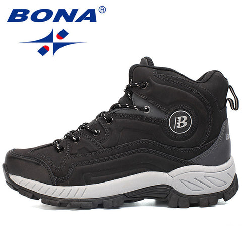 BONA Men Hiking Shoes High-Cut Outdoor Comfortable Sneakers