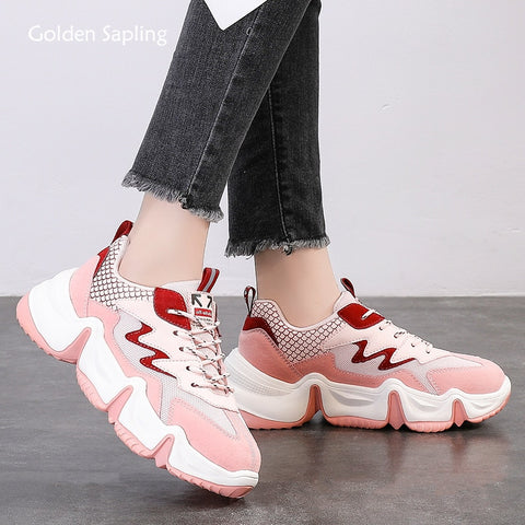Golden Sapling Retro Platform Sneakers Breathable Air Mesh Trainers