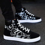 High Top Leather Mens Shoes Running Tennis Shoes Athletic Jogging