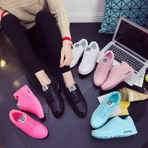 Sneakers Women Outdoor Damping Shoes  Running Lightweight Sports Fitness Soft Gym Trainers Shoes