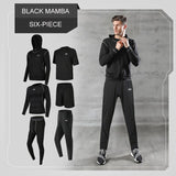 Men'S Tracksuit Compression Quick-Drying Short Sleeve T-Shirt Jogging Sportswear