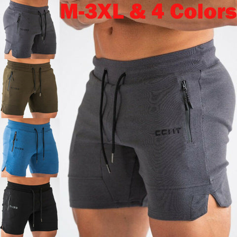 Men's Training Running Shorts Quick Dry Casual  Zipped POcket Sports Shorts