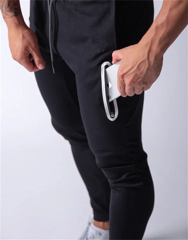 Men's Jogging Pants Casual Sports Pants Gym Cotton Fitness Exercise Stretch Pants