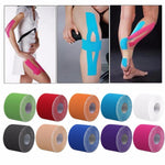 2 Size Waterproof Kinesiology Tape Sport Recovery Knee Muscle Accessories