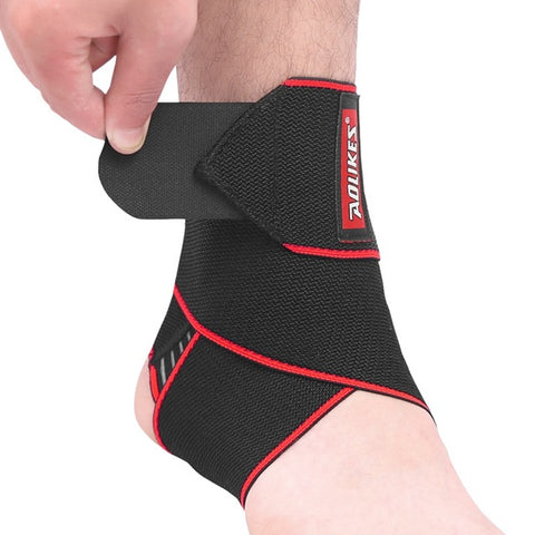 1PCS Ankle Support Protection Foot Bandage Elastic Ankle Brace Sport accessories Black