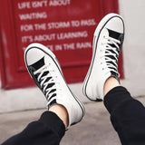 High-top Canvas Sneakers for Men Athlete Male