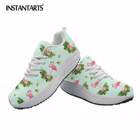 INSTANTARTS Birds Printed Women's Comfortable Body Shaping Swing Shoes