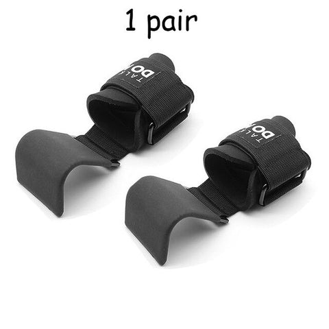 Weightlifting Hooks Wrist Straps for Pull-ups Power Lifting Grips with Pads