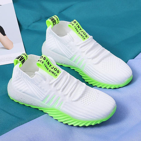 Summer Sneakers for Women Sports Shoes 2020 Women's Running Shoes Jogging White Green  E-261