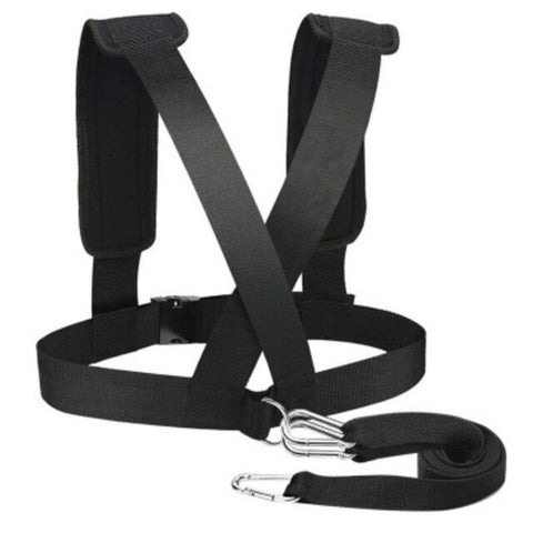 Sled Harness Tire Pulling Strap Strength Training Workout Pad Belt for Outdoor Sports