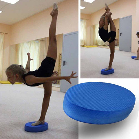 18*31*6cm Yoga Balance Cushion Foam Board  Blue Oval Cushion