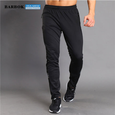 BARBOK Running Pants Men's Striped Breathable Fitness Training Jogging Sweatpants