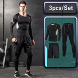 Men's Gym training Fitness Athletic Workout Suits Tracksuit Dry Fit