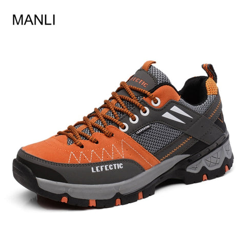 MANLI High Quality Men Hiking Shoes Breathable Trail Upstream Climbing Sneakers