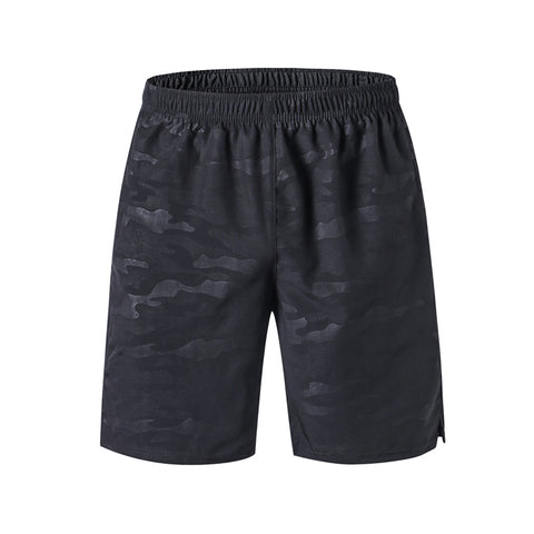Men's Shorts with Reflective Logo Jogging Outdoor Loose Shorts with Zipper Pocket