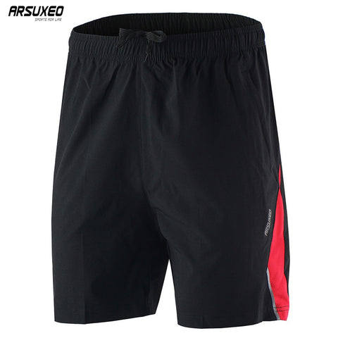 ARSUXEO Men's Shorts Training Soccer Workout Shorts Breathable Pockets B162