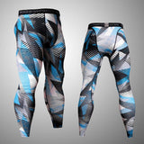 Men's Compression Jogging Suits Long T shirt And Pants Tights 2pcs/Sets