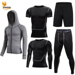 5 Pcs Compression Sportswear Men's Training Fitness Tights Running Jogging Tracksuit