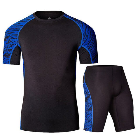 NEW Mens Running set Compression Clothing Sportswear Shirts +Athletic Pants