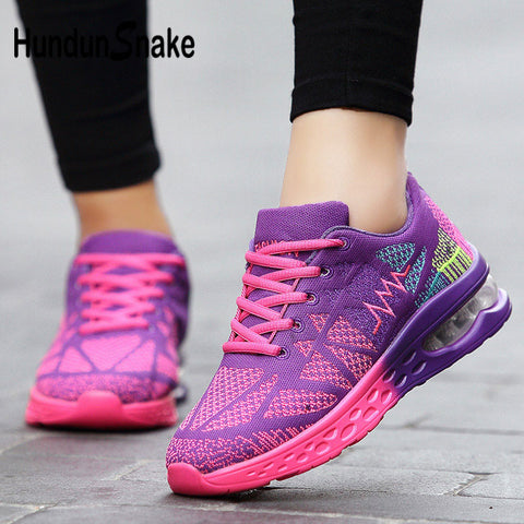 Hundunsnake Woman Fitness Air Cushion Running Mesh Tennis Women's Shoes