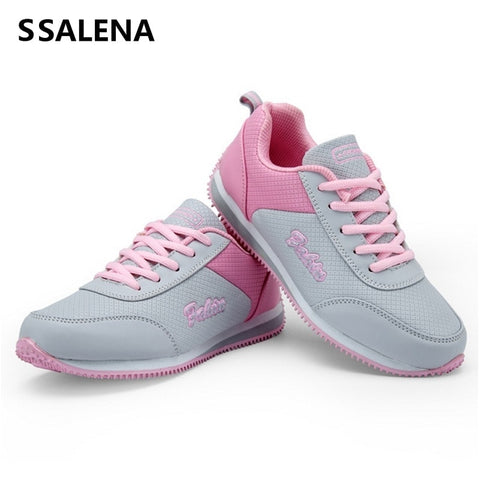 Fitness Shoes Women'S Sport For Women Swing Wedges Platform Trainers Lace Up Breathable Toning Shoes Sneakers #B2156