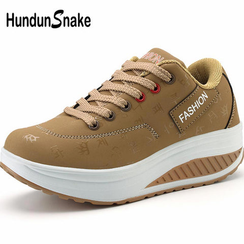 Hundunsnake Sneakers thick soles women's sport shoes running shoes