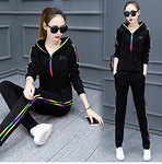 Women's Full Zip Streetwear Tracksuit Suit 2pcs Plus Size #06716579