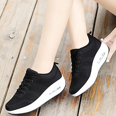 Women's Sneakers Creepers Round Toe Canvas#07749698