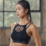 Women's Sports Bra Top Open Back Padded Light #07323674