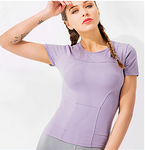 Women's Top Solid Color Stretchy Activewear #07388018